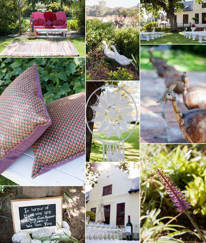 bohemian garden wedding decor