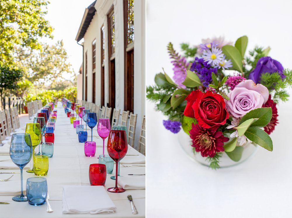 colourful wedding decor