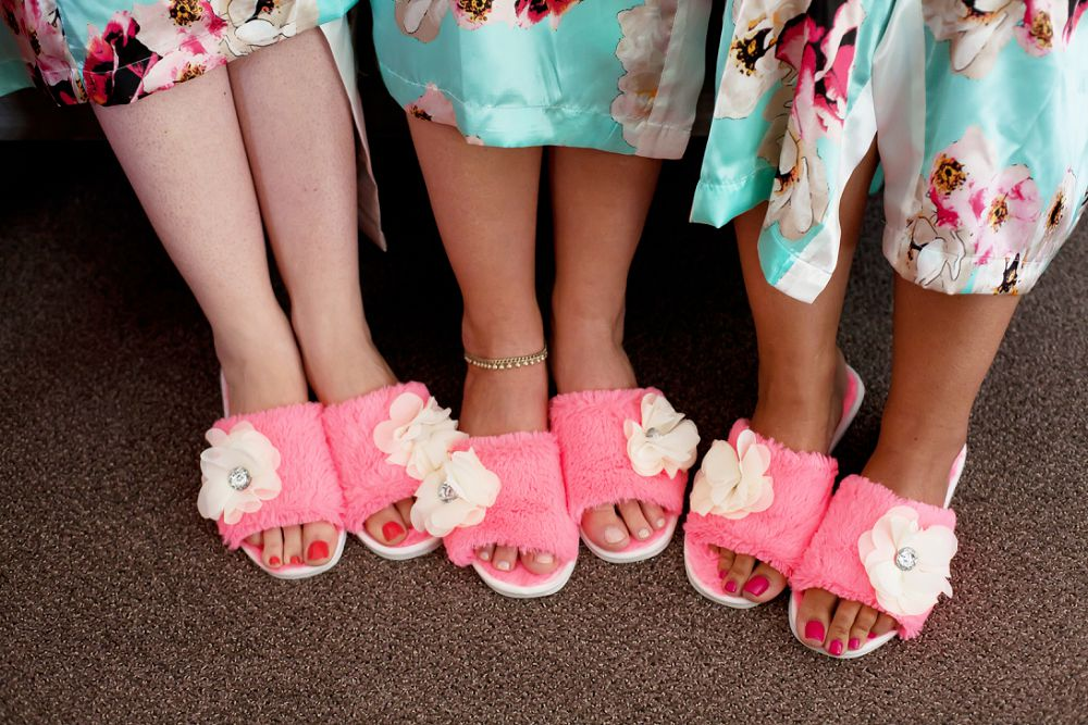 cute bridal slippers