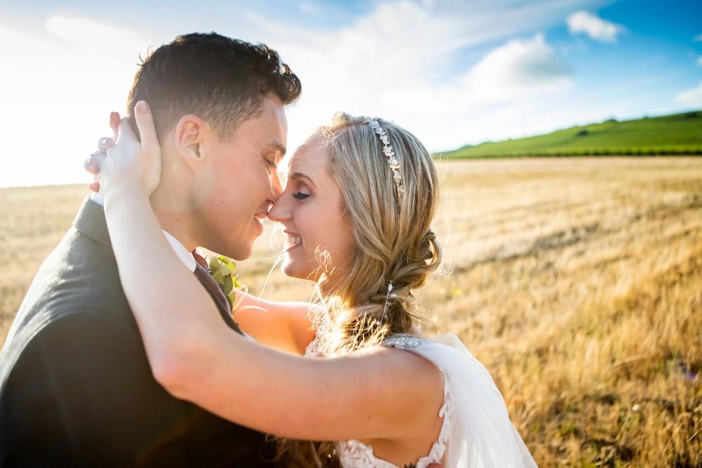 Bride and groom Neethlingshof wedding