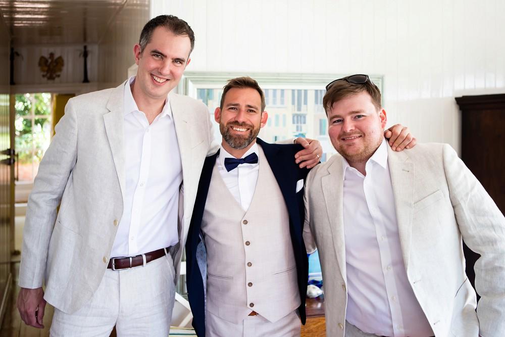 Groom and bestmen simonstown wedding