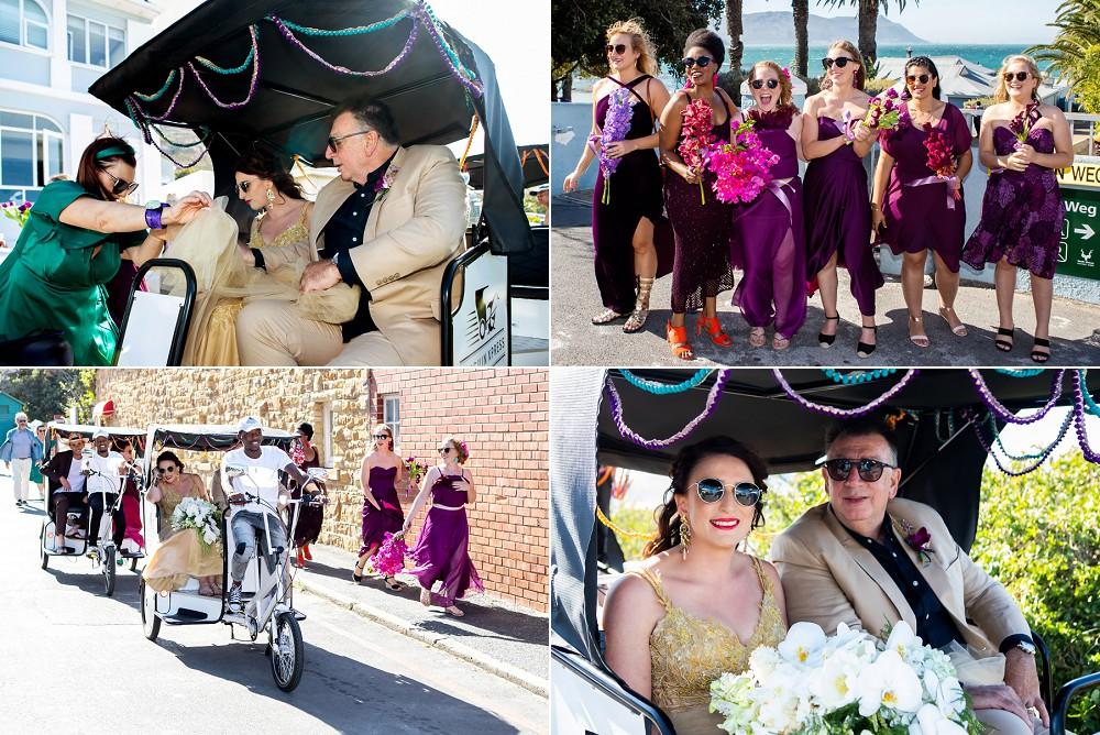 Simons town wedding unique wedding transport