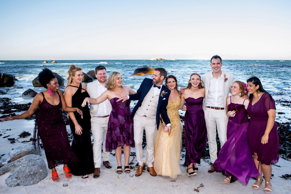 Bridal party simonstown wedding