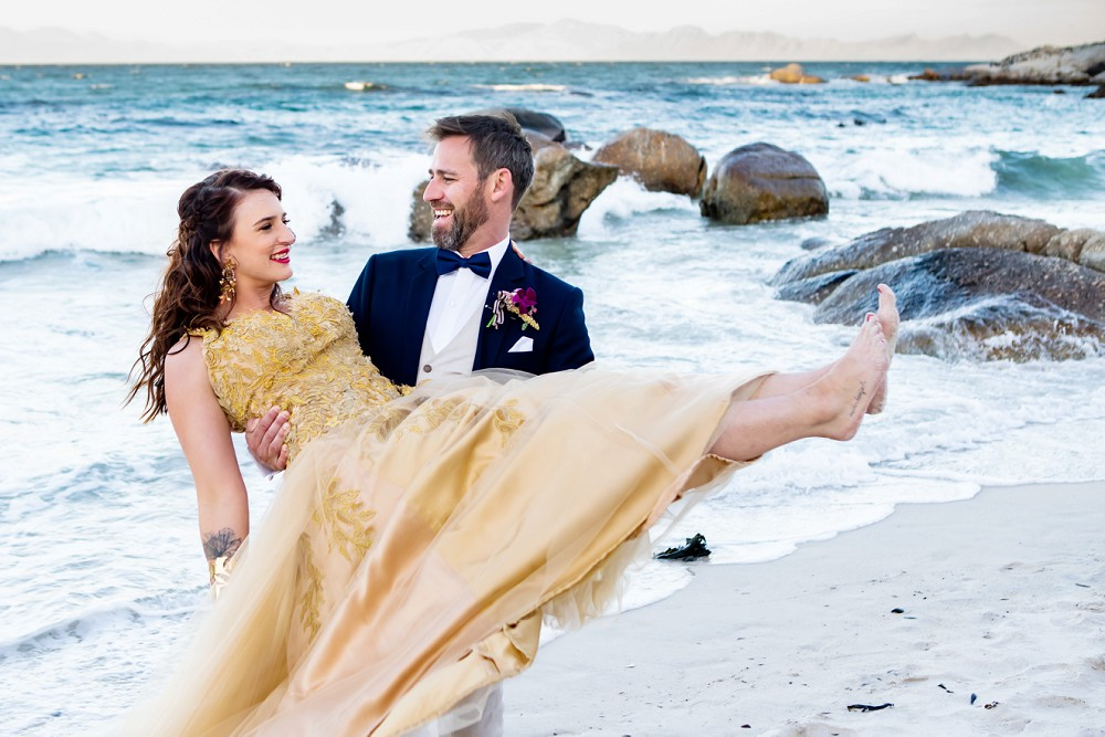 Beach wedding simons town wedding