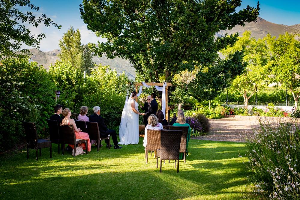 Franschhoek elopement ceremony