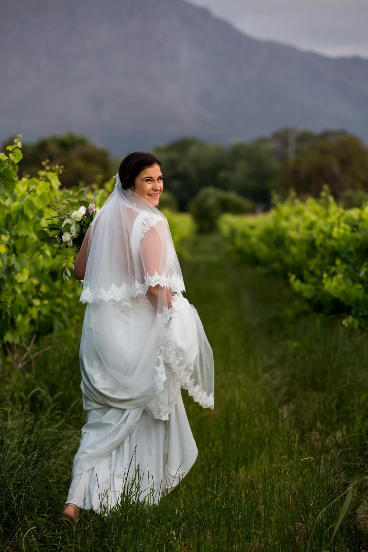 Franschhoek elopement bride