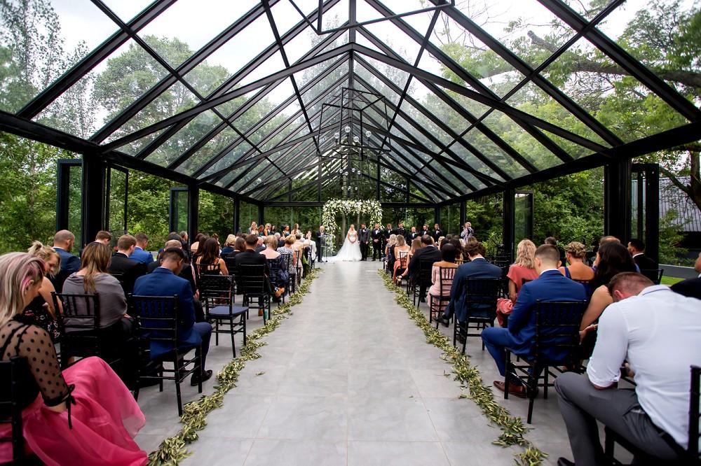 Glass wedding chapel Inimitable wedding