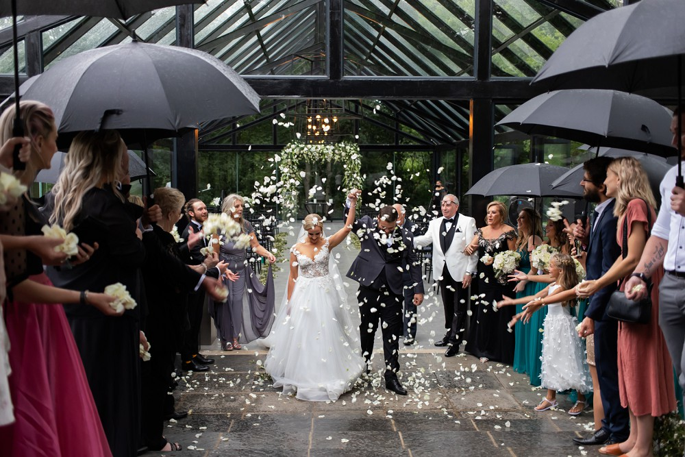 Showers of blessings Inimitable wedding