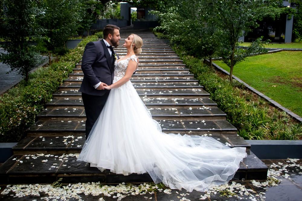 Bride and groom Inimitable wedding