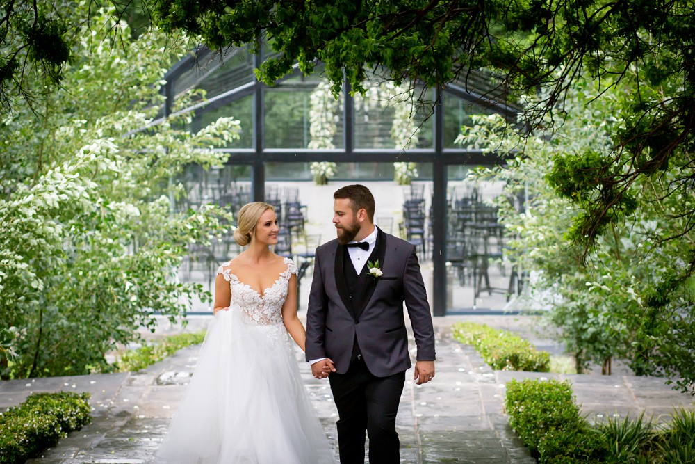 Inimitable wedding bride and groom