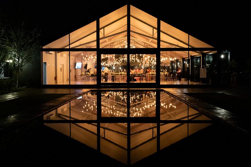 Inimitable wedding venue by night