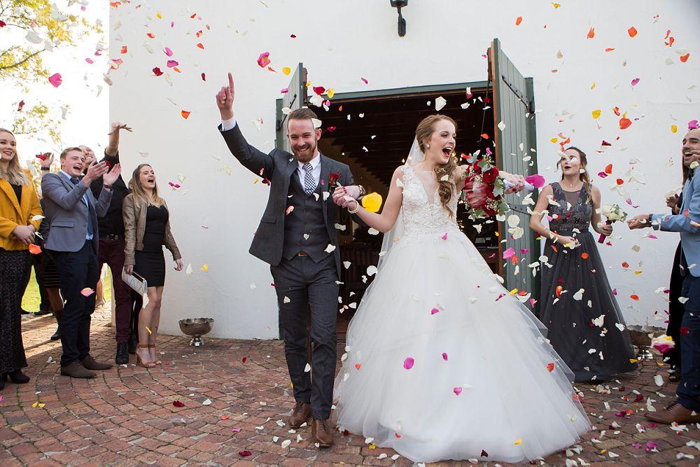 Emotive Wedding Photography Confetti Shot