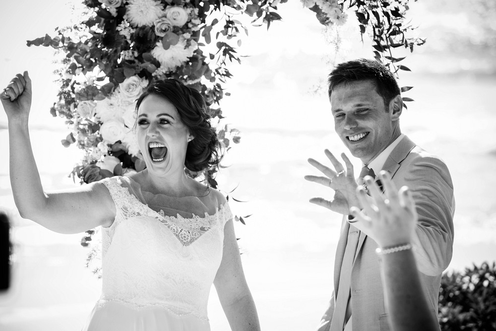 Emotive wedding photography just married