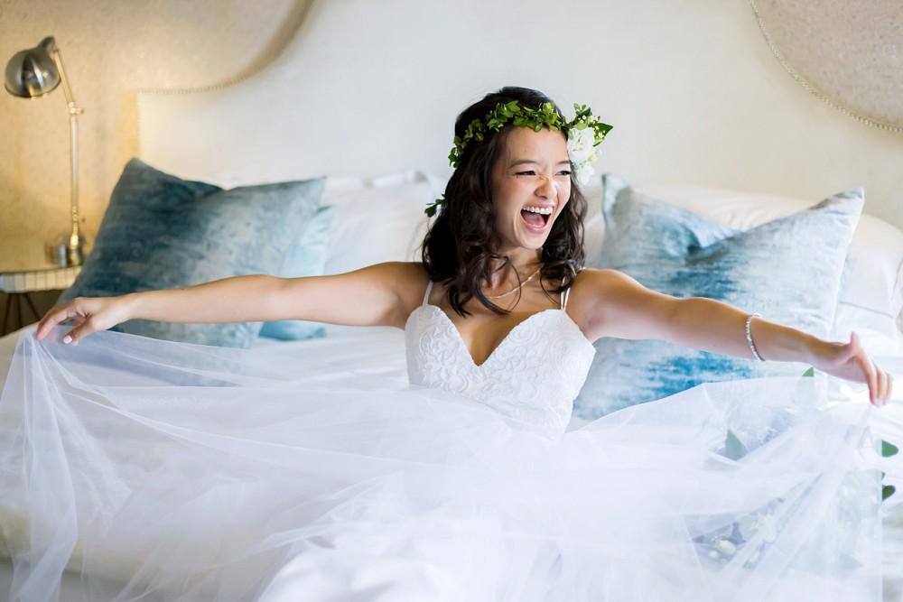 Emotive wedding photography happy bride