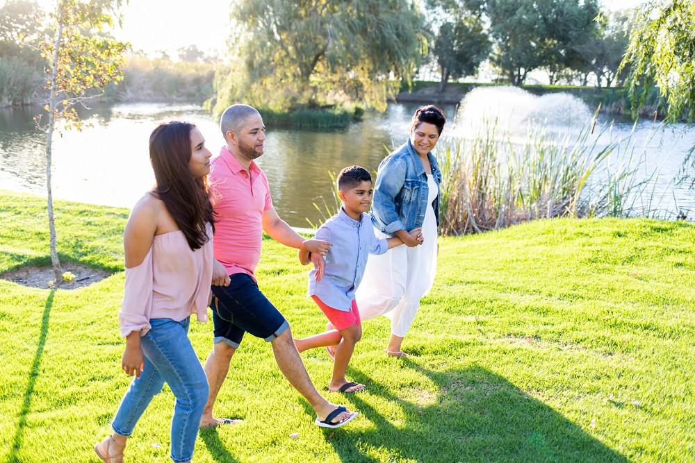 Loch Lynne family at dam