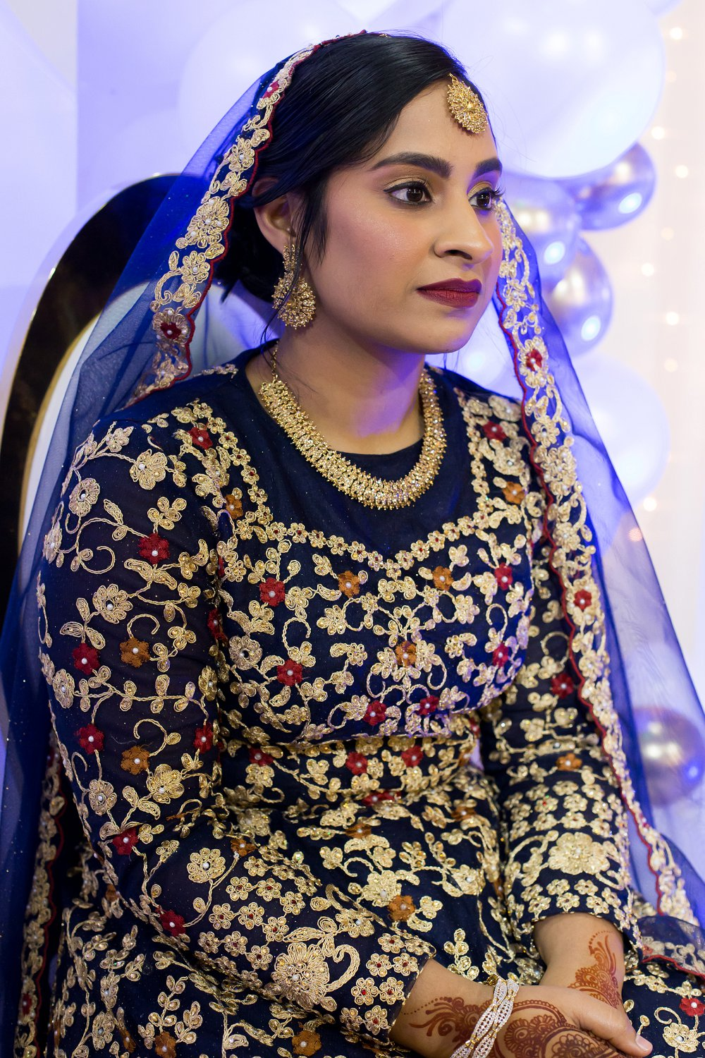 Traditional engagement function Indian bride