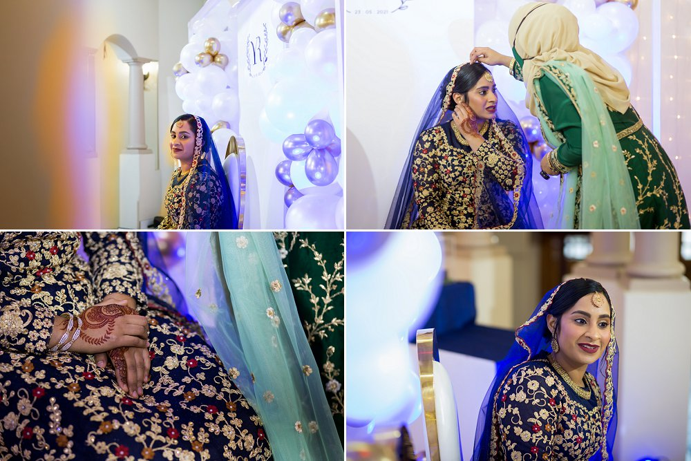 Traditional engagement function Muslim bride to be
