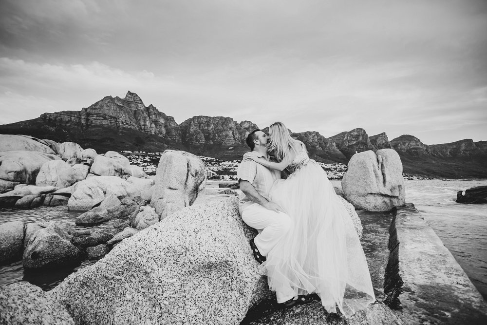 Couple photo shoot on holiday in Cape Town