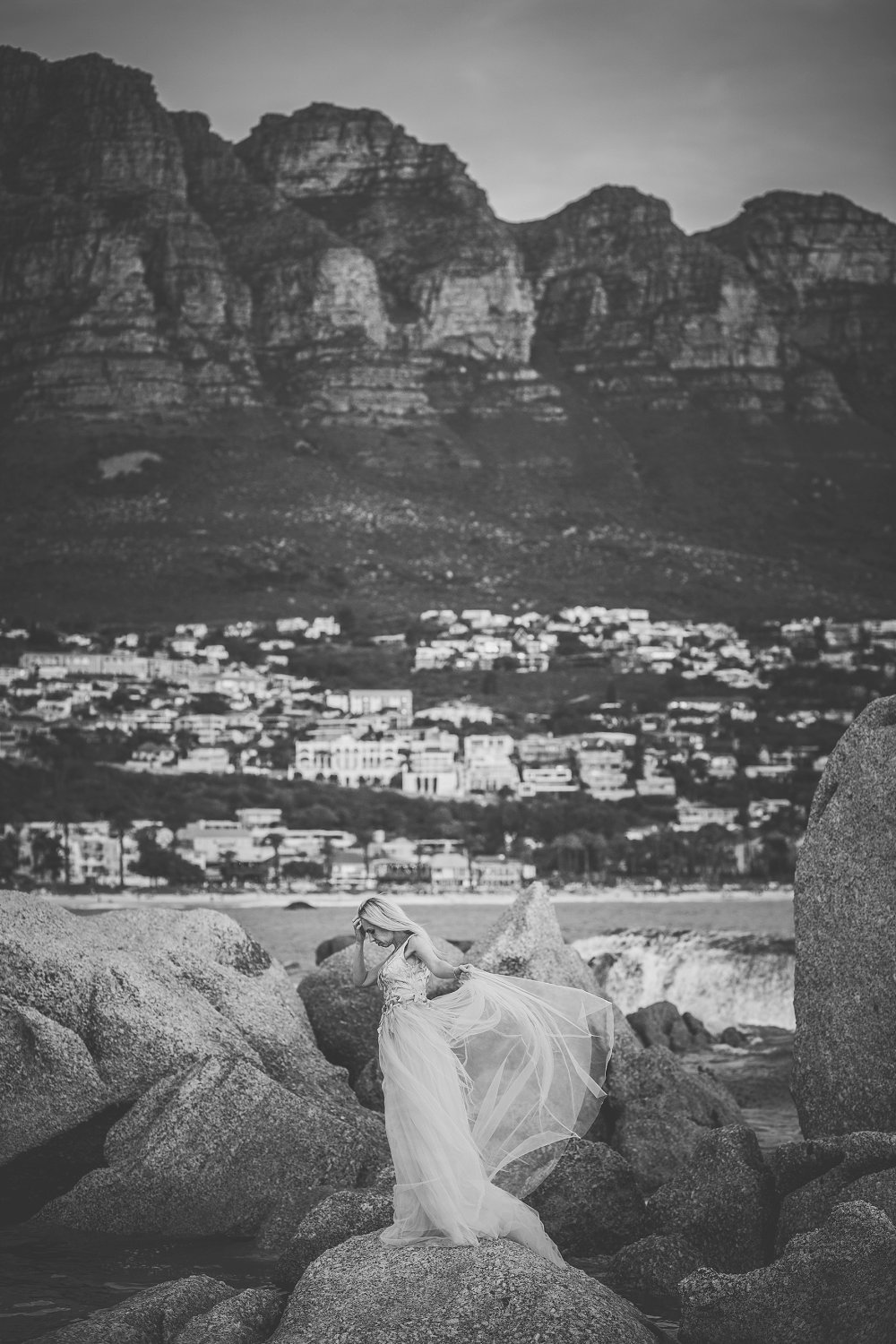 Cape Town black and white glamour shoot