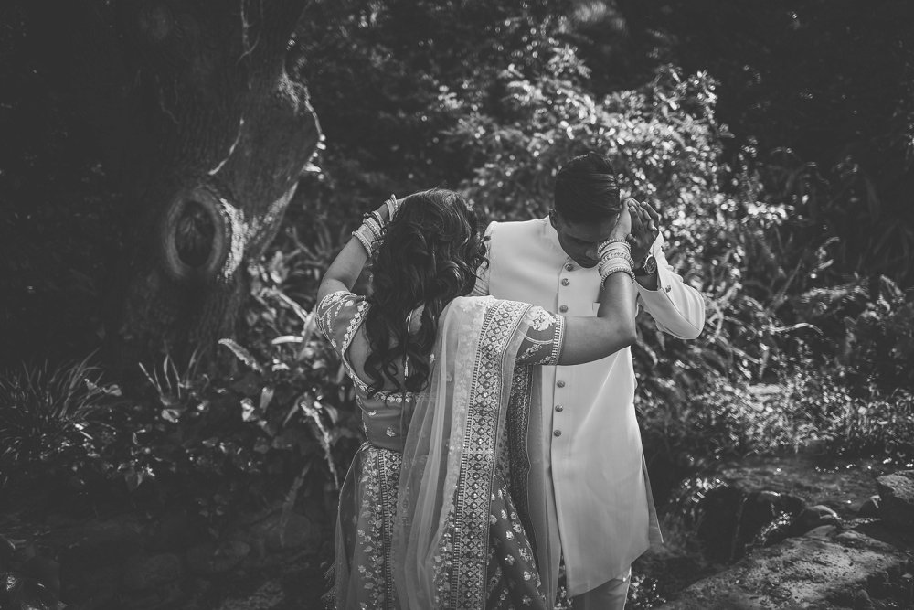 Indian engagement le franschhoek hotel moody black and white image
